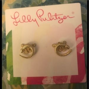Lilly Pulitzer Lizard Earrings 🦎